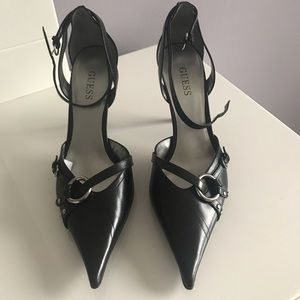 Guess Black Leather Women's Shoe